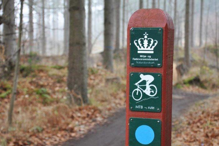 Mountainbikes presser de danske skove