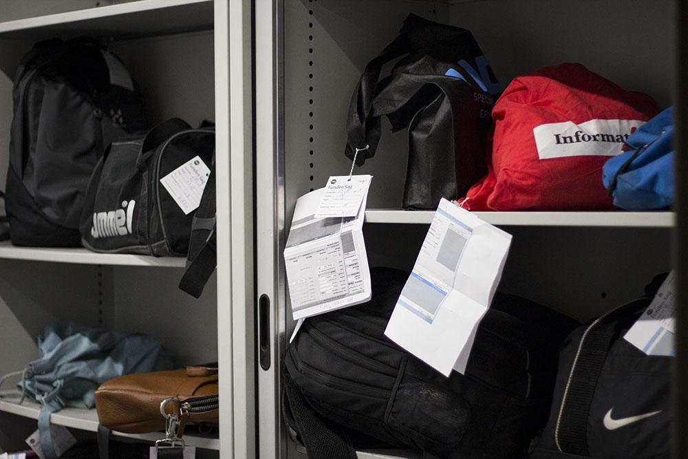 Tasker glemt i toget